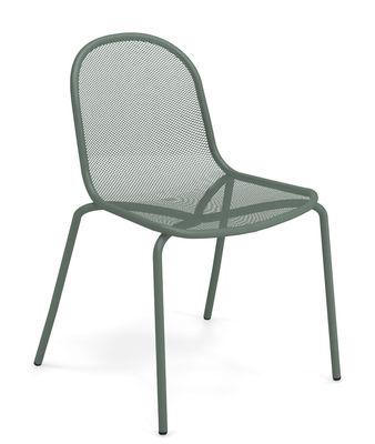 Chaise empilable Nova Métal Emu vert foncé en métal