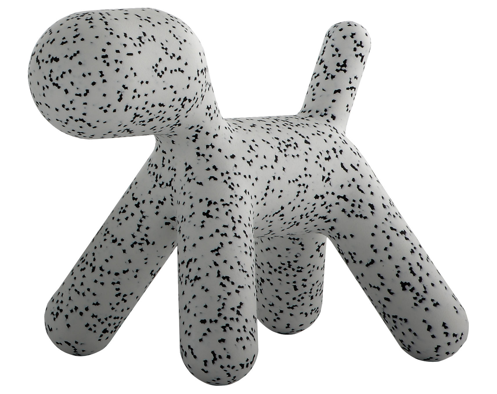Furniture - Kids Furniture - Puppy Large Children's chair - / Large - L 69 cm by Magis Collection Me Too - White / Black mottled - roto-moulded polyhene
