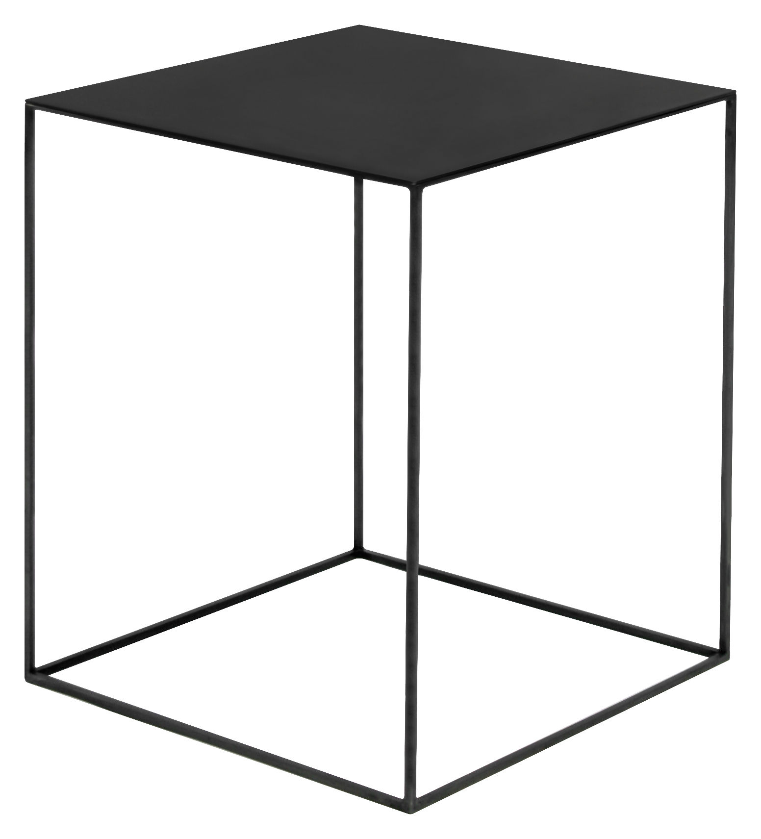Möbel - Couchtische - Slim Irony Couchtisch / 41 x 41 x H 64 cm - Zeus - Stahl, schwarz - Stahl