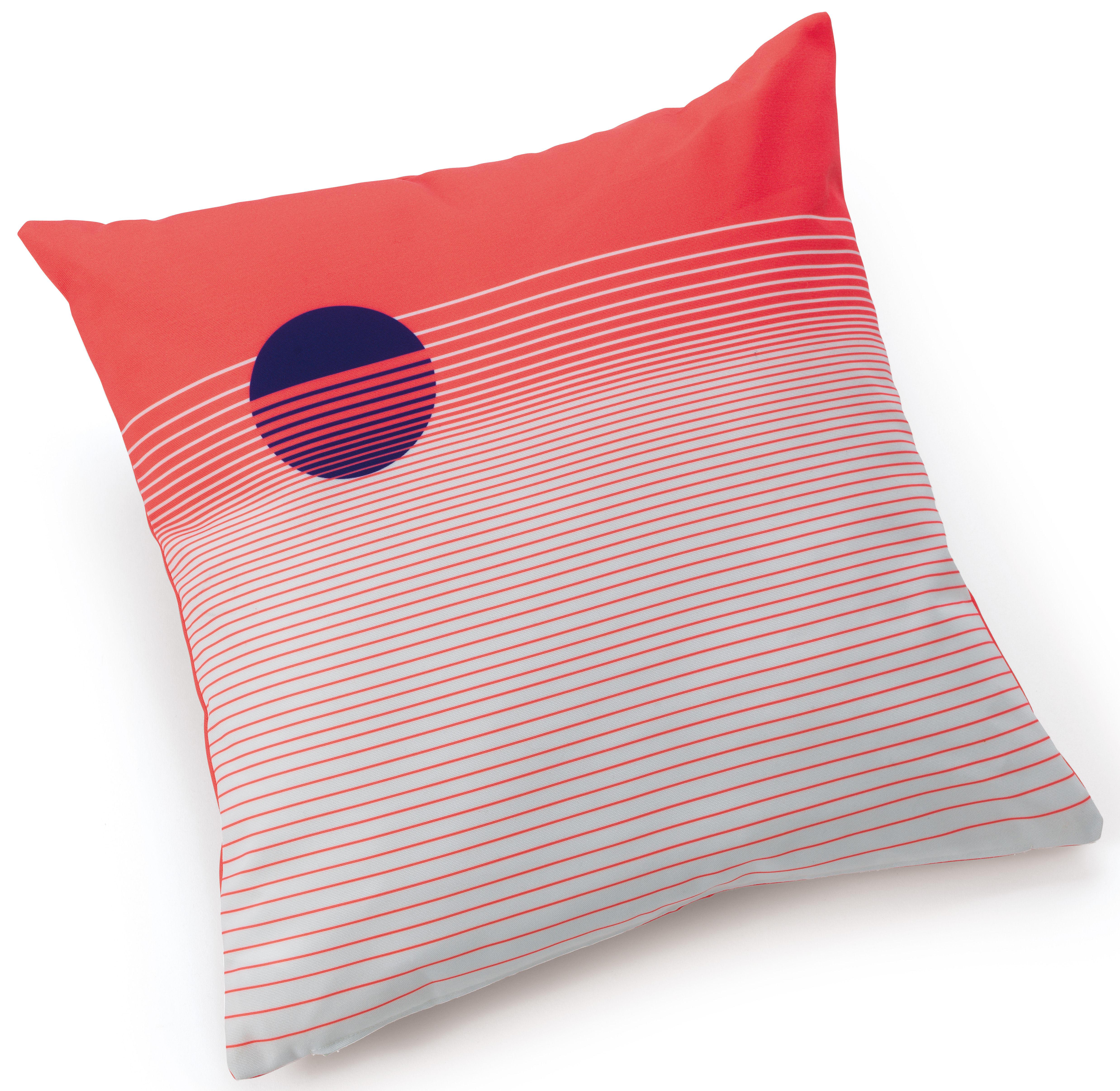 Outdoor - Déco et accessoires - Coussin d'extérieur Infusion Graphique / 44 x 44 cm - Fermob - Grenadine - Tissu