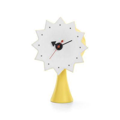 Decoration - Wall Clocks - Ceramic Clocks - Model #2 Desk clock - / By George Nelson, 1953 by Vitra - Yellow & white - China