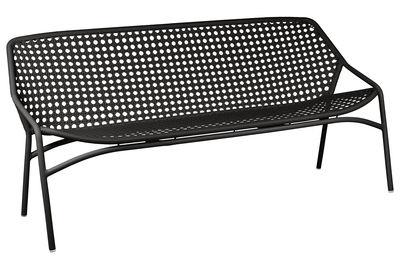 Outdoor - Poltrone e Divani - Divano destro Croisette XL - 3 posti / L 177 cm - Plastica intrecciata di Fermob - Liquirizia -   Fibres synthétiques, Alluminio