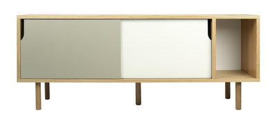 Furniture - Dressers & Storage Units - Amsterdam Dresser - L 165 cm by POP UP HOME - Oak / White & grey doors - Oak veneer, Painted MDF, Particle board