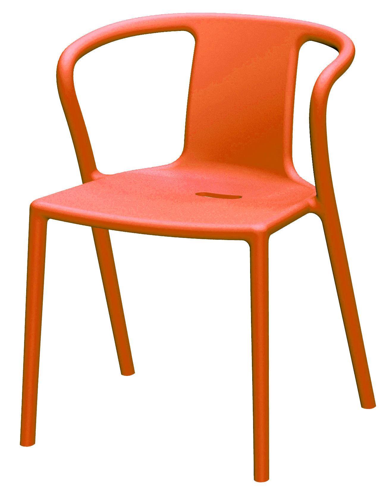 Mobilier - Chaises, fauteuils de salle à manger - Fauteuil empilable Air-Armchair / Polypropylène - Magis - Orange - Polypropylène