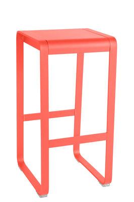Furniture - Bar Stools - Bellevie High stool - H 75 cm / Aluminium by Fermob - Capucin - Painted aluminium