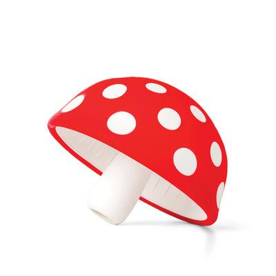 Cucina - Utensili da cucina - Imbuto Magic Mushroom - / Silicone morbido di Pa Design - Rosso & bianco - Silicone morbido