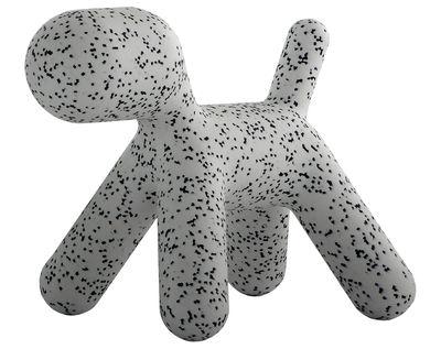 Möbel - Möbel für Kinder - Puppy Large Kinderstuhl / Large - L 69 cm - Magis Collection Me Too - Weiß / mit schwarzen Flecken - rotationsgeformtes Polyäthylen