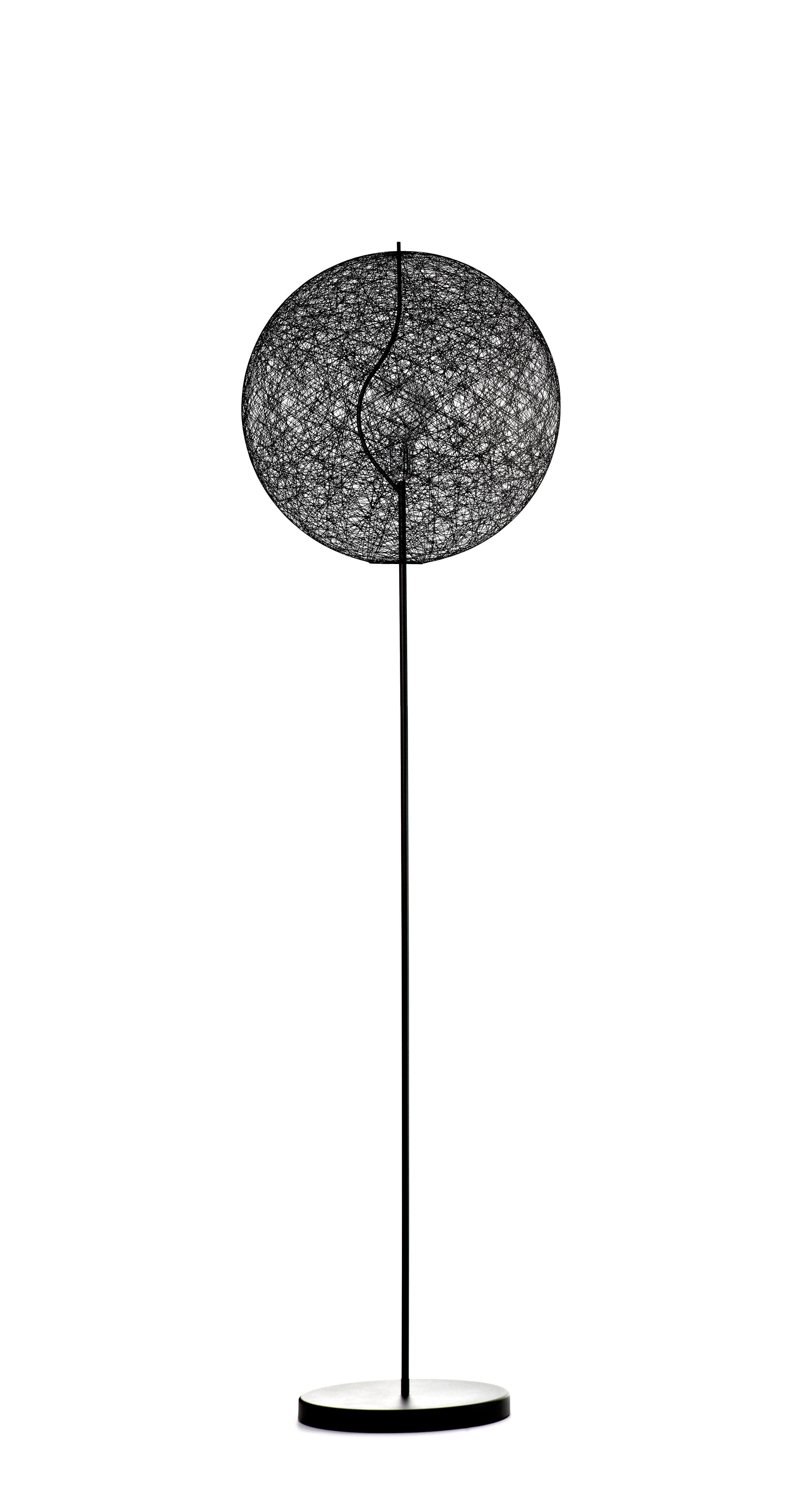 Illuminazione - Lampade da terra - Lampada a stelo Random Light LED - LED - Small Ø 50 cm di Moooi - Nero - H 187 x Ø 50 cm - Acciaio, Fibra di vetro