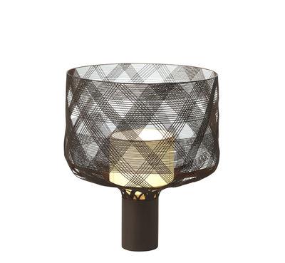 Luminaire - Lampes de table - Lampe de table Antenna Medium - H 30 cm - Forestier - Taupe - Métal, Textile