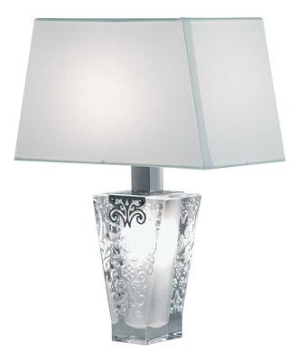 Lampe de table Vicky - Fabbian blanc en métal