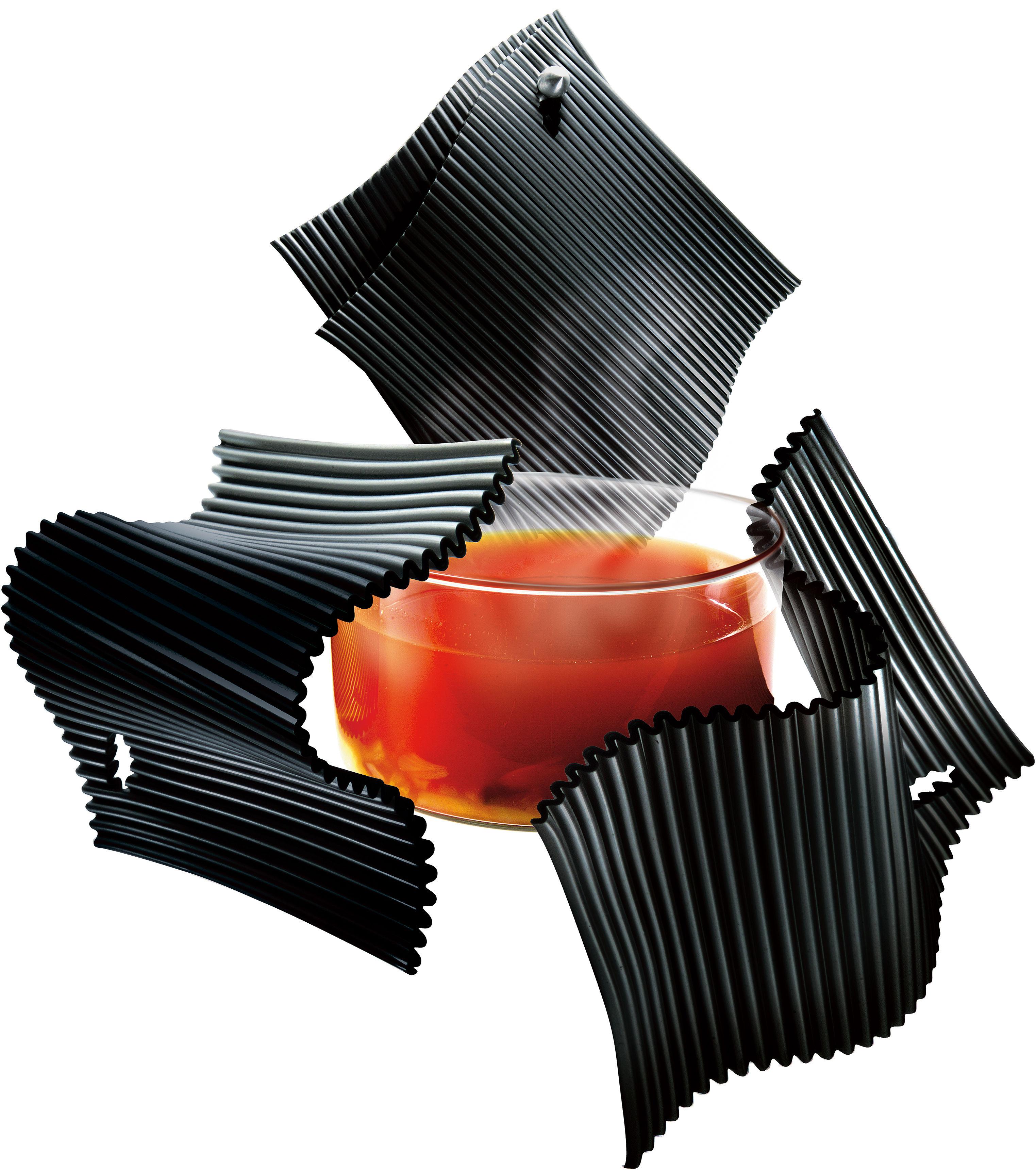 Cuisine - Pratique & malin - Manique en silicone / Lot de 2 + patère - Eva Solo - Noir - Silicone