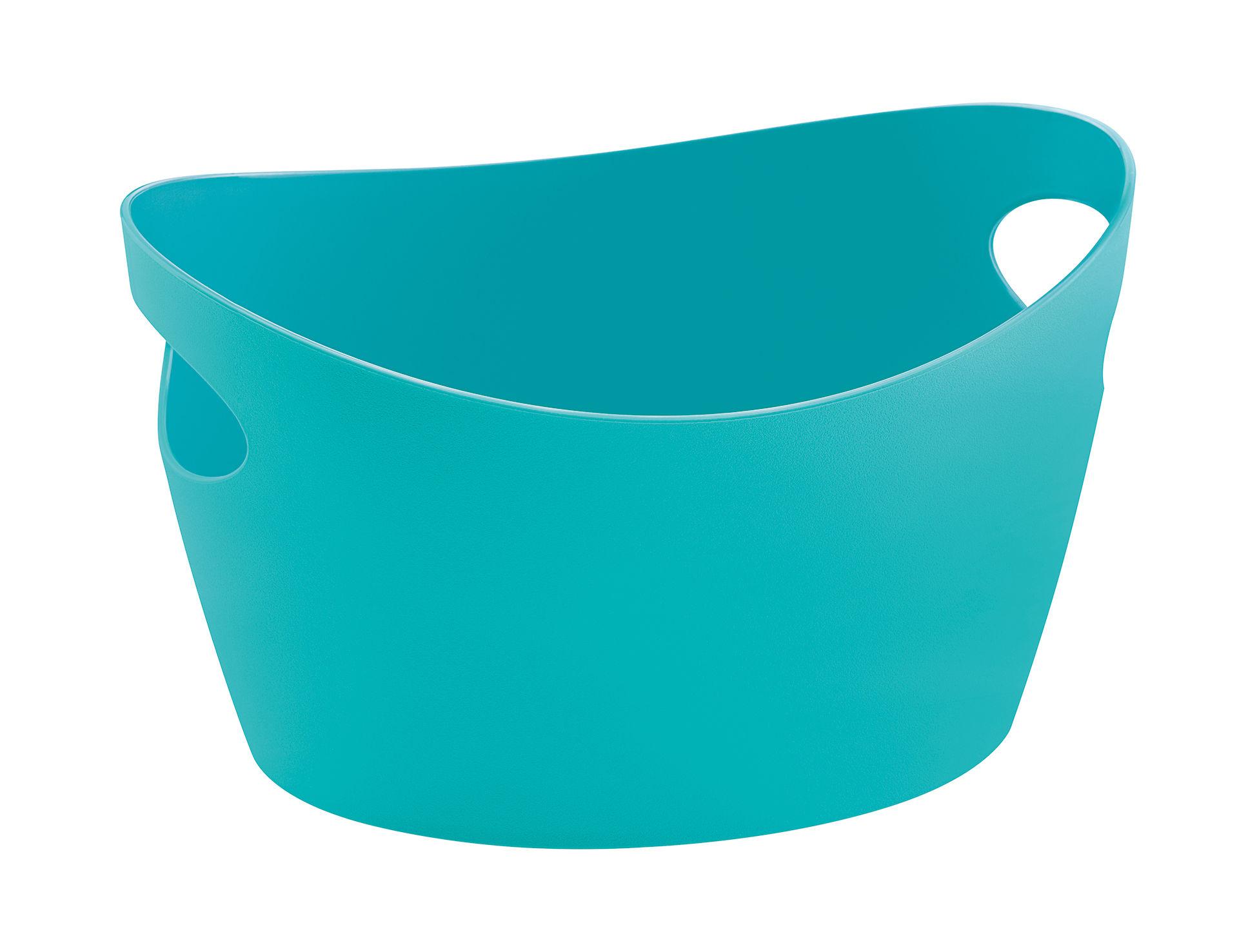 Déco - Paniers et petits rangements - Panier Bottichelli XS / L 15 x H 9 cm - Koziol - Turquoise opaque - Polypropylène