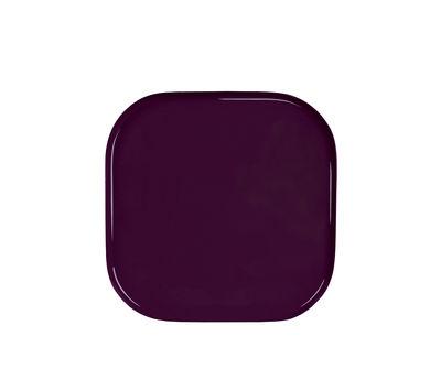 Plateau Metal Square / 21 x 21 cm - & klevering violet en métal