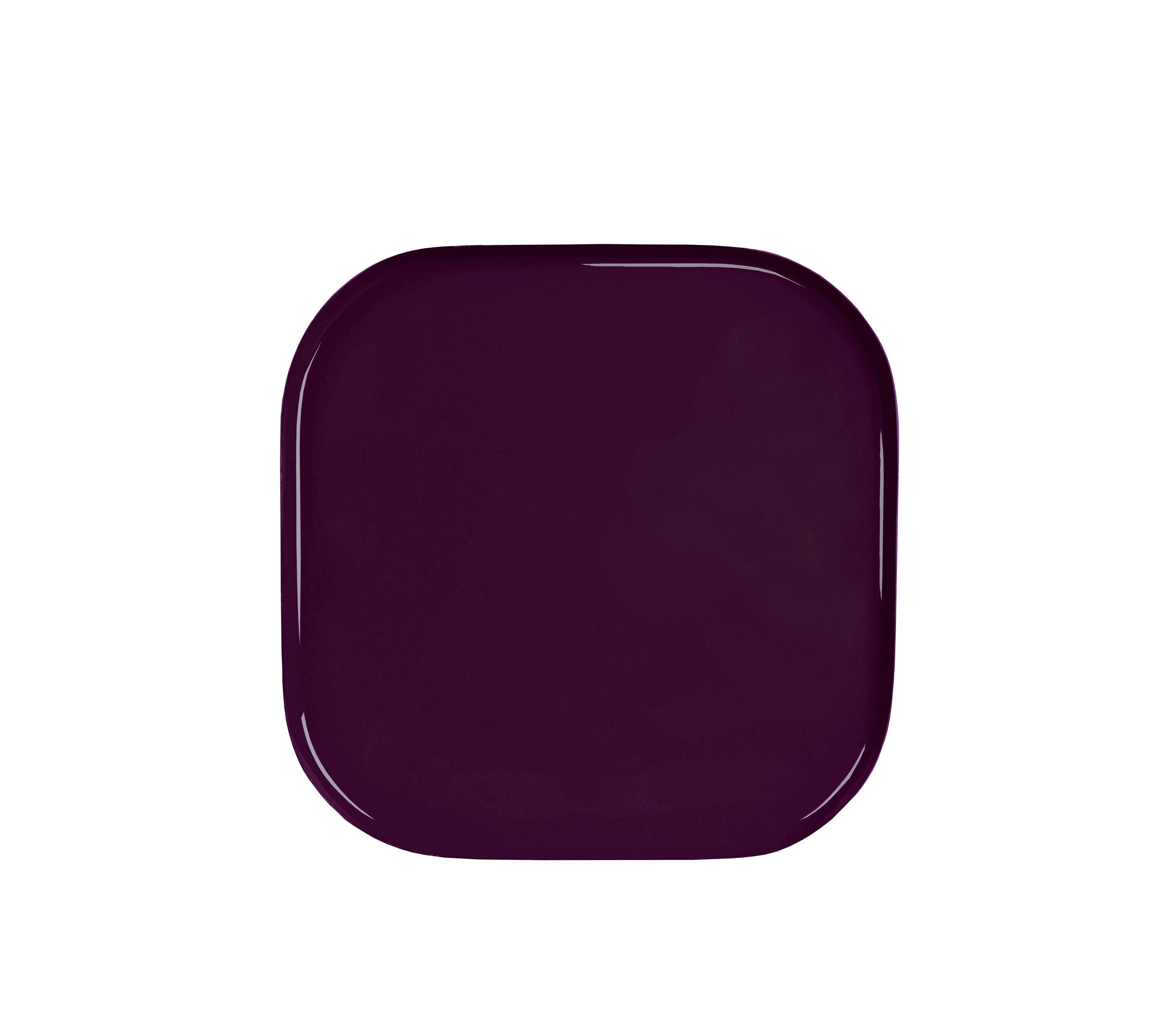 Arts de la table - Plateaux - Plateau Metal Square / 21 x 21 cm - & klevering - Carré / Violet - Métal