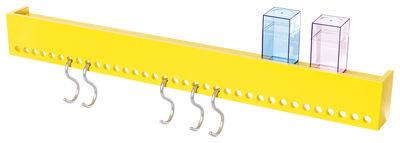 Möbel - Regale und Bücherregale - So Hooked Regal / Garderobe - mit 5 Haken - Nomess - Gelb - Holzfaserplatte, Stahl