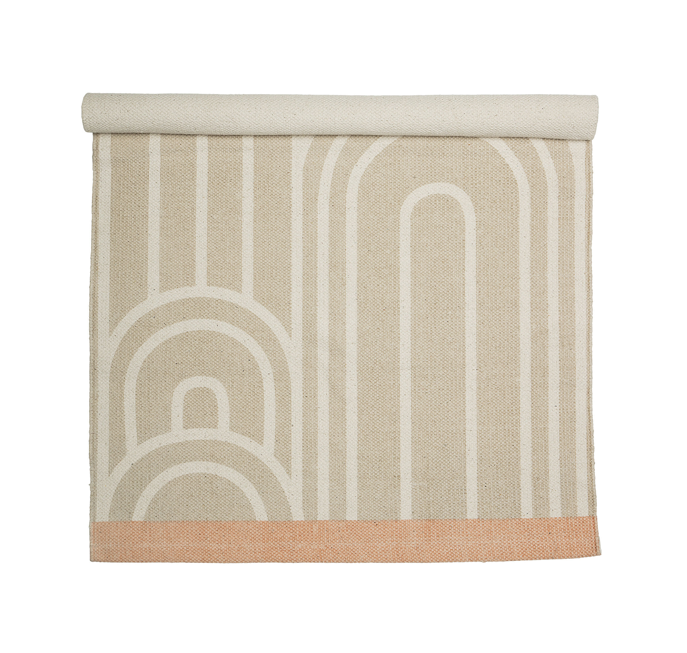 Decoration - Rugs - Rug - / Cotton - 120 x 60 cm by Bloomingville - Beige & white - Cotton