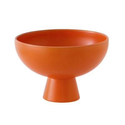 Tischkultur - Salatschüsseln und Schalen - Strøm Large Schale / Ø 22 cm - Céramique / Fait main - raawii - Orange Vibrant - Keramik