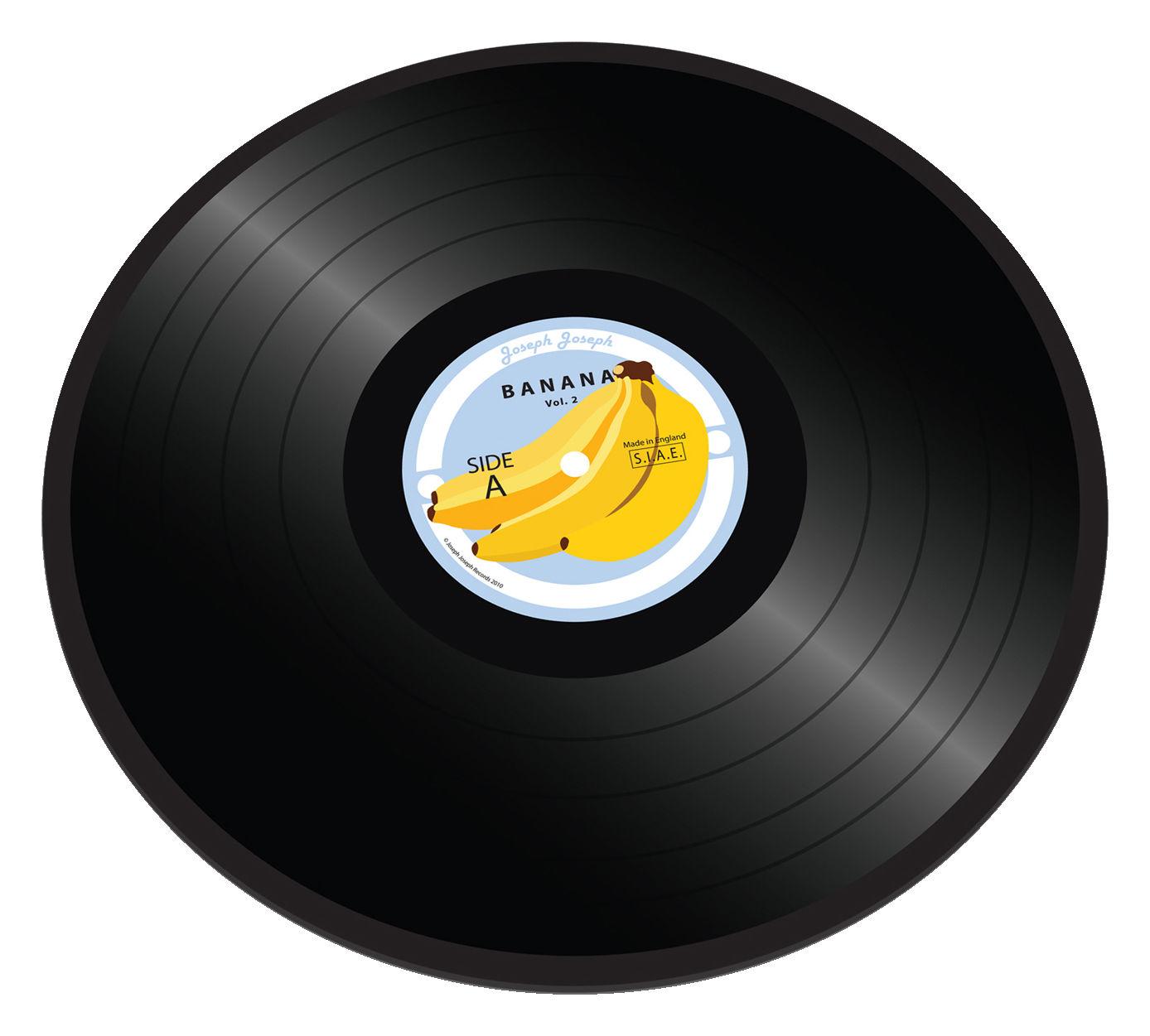 Tischkultur - Tabletts - Banana vinyl Schneidebrett Untersetzer / Teller - Joseph Joseph - Banana Vinyl - Glas