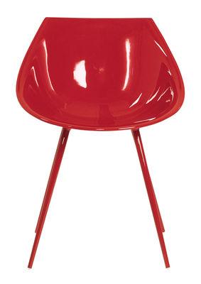 Möbel - Stühle  - Lago Sessel - Driade - Rot - lackiertes Aluminium, lackiertes Polyurhethan