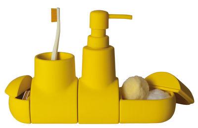 Accessoires - Accessoires salle de bains - Set accessoires salle de bain Submarine / Pour salle de bains - Seletti - Jaune - Gomme, Porcelaine