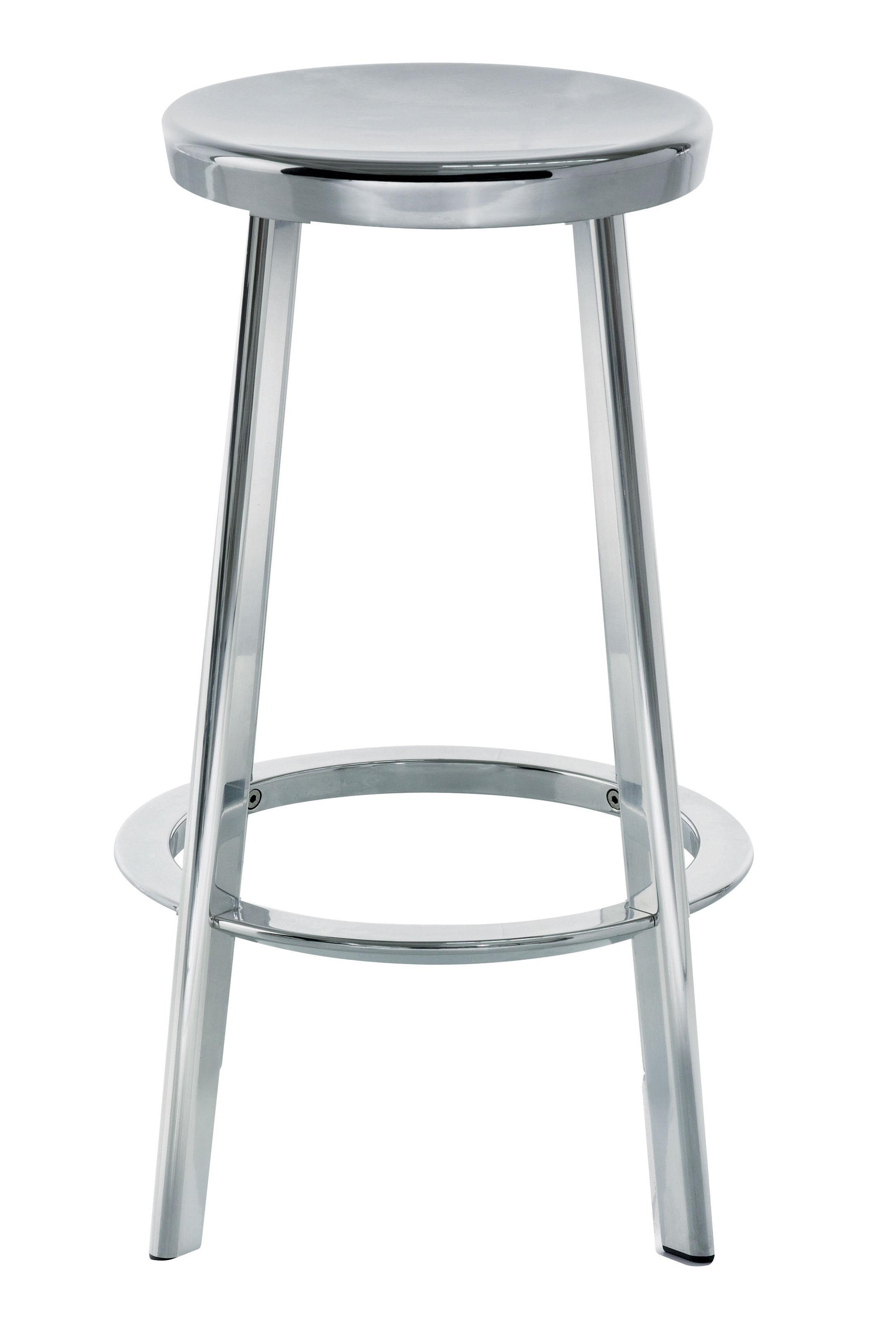 Arredamento - Sgabelli da bar  - Sgabello bar Déjà-vu di Magis - Alluminio - Alluminio lucido, Ghisa di alluminio
