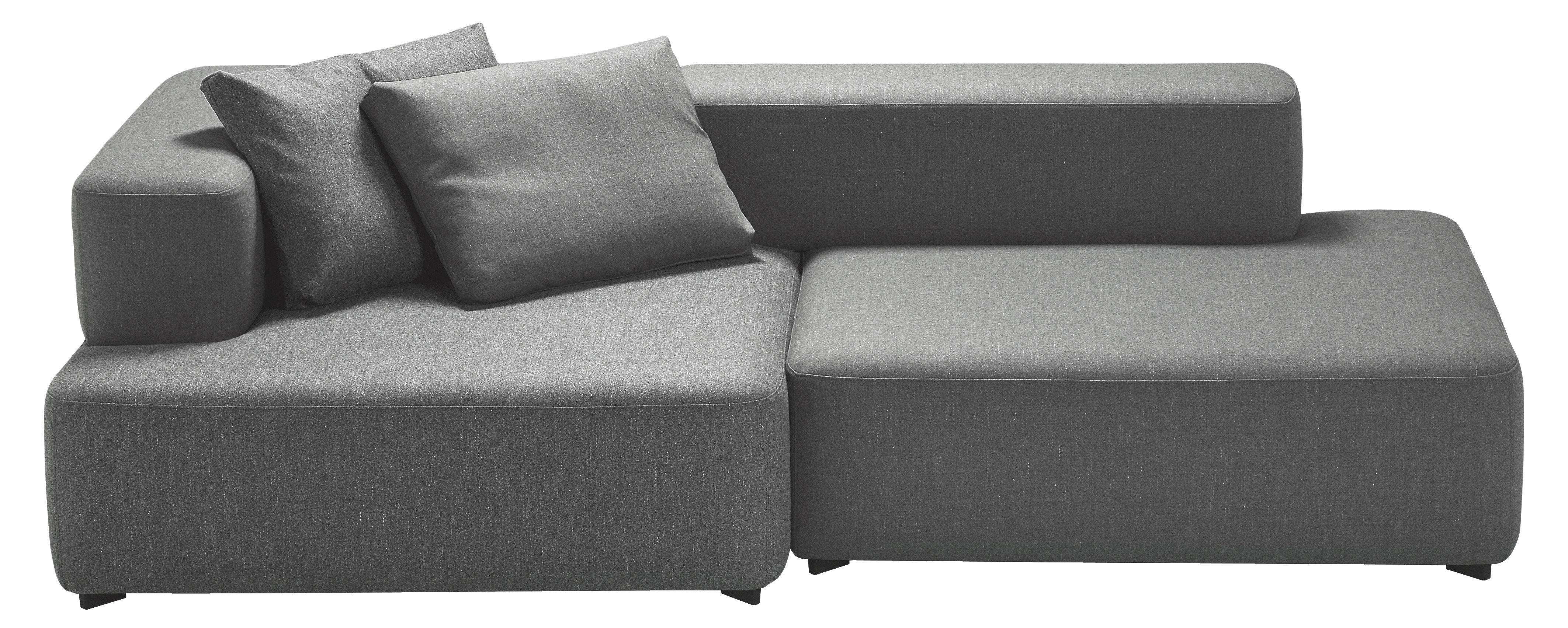 Möbel - Sofas - Alphabet Sofa modularer 2-Sitzer - L 210 x T 120 cm - Fritz Hansen - Dunkelgrau - Kvadrat-Gewebe, Schaumstoff