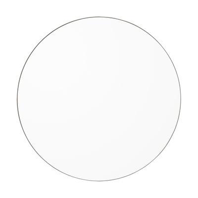 Interni - Specchi - Specchio murale Circum Medium - / Ø 90 cm di AYTM - chiaro / Grigio talpa - MDF tinto, Vetro