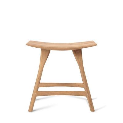 Furniture - Stools - Osso Stool - / Solid oak - H 48 x L 50 cm by Ethnicraft - Oak - Solid oak