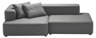 Furniture - Sofas - Alphabet Straight sofa - Modular 2 seats - L 210 x D 120 cm by Fritz Hansen - Dark grey - Foam, Kvadrat fabric