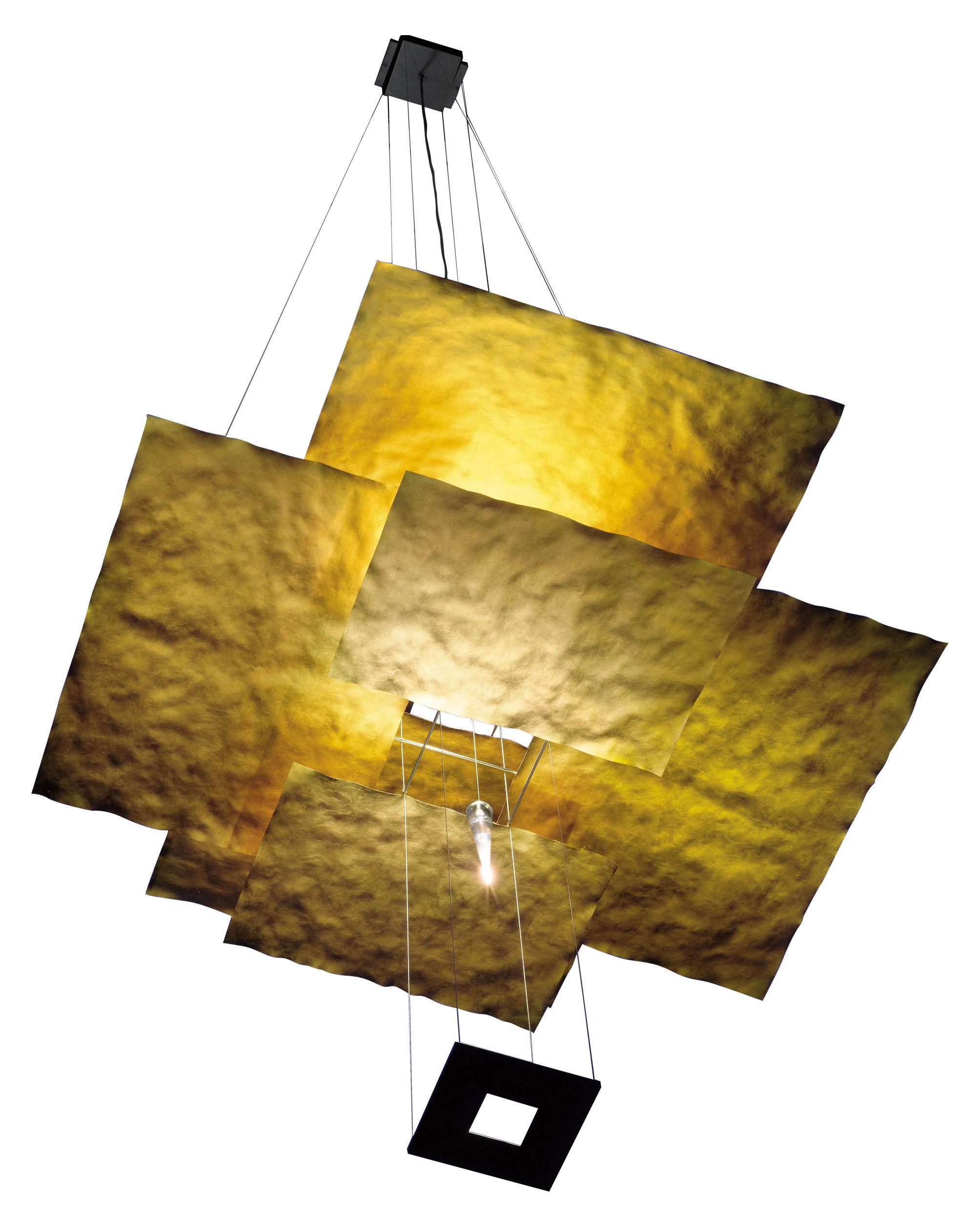 Luminaire - Suspensions - Suspension Oh Mei Ma - Or - Ingo Maurer - Or - Acier, Feuille d'or, Papier
