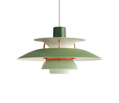 Suspension PH 5 Mini / Ø 30 cm - Louis Poulsen vert en métal