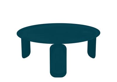 Table basse Bebop / Ø 80 x H 32 cm - Fermob bleu acapulco en métal
