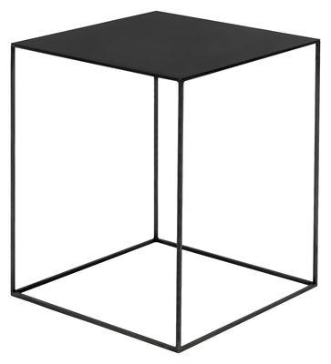 Table basse Slim Irony 41 x 41 x H 64 cm Zeus noir cuivré,noir phosphaté en métal