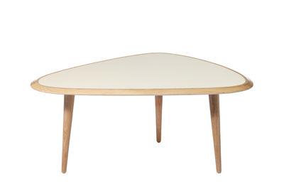 Table basse Small / 85 x 53 cm - Laque - RED Edition chêne naturel,crème laqué en bois