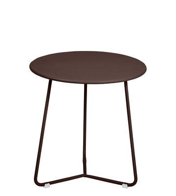 Table d'appoint Cocotte / Tabouret - Ø 34 x H 36 cm - Fermob marron en métal