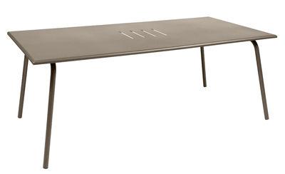 Table Monceau / 194 x 94 cm - 8 personnes - Fermob muscade en métal