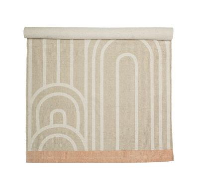 Déco - Tapis - Tapis / Coton - 120 x 60 cm - Bloomingville - Beige & blanc - Coton