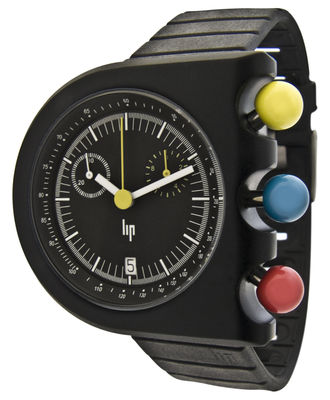 Accessoires - Uhren - Dark Master Uhr - Lip - Schwarz - Aluminium, Kautschuk
