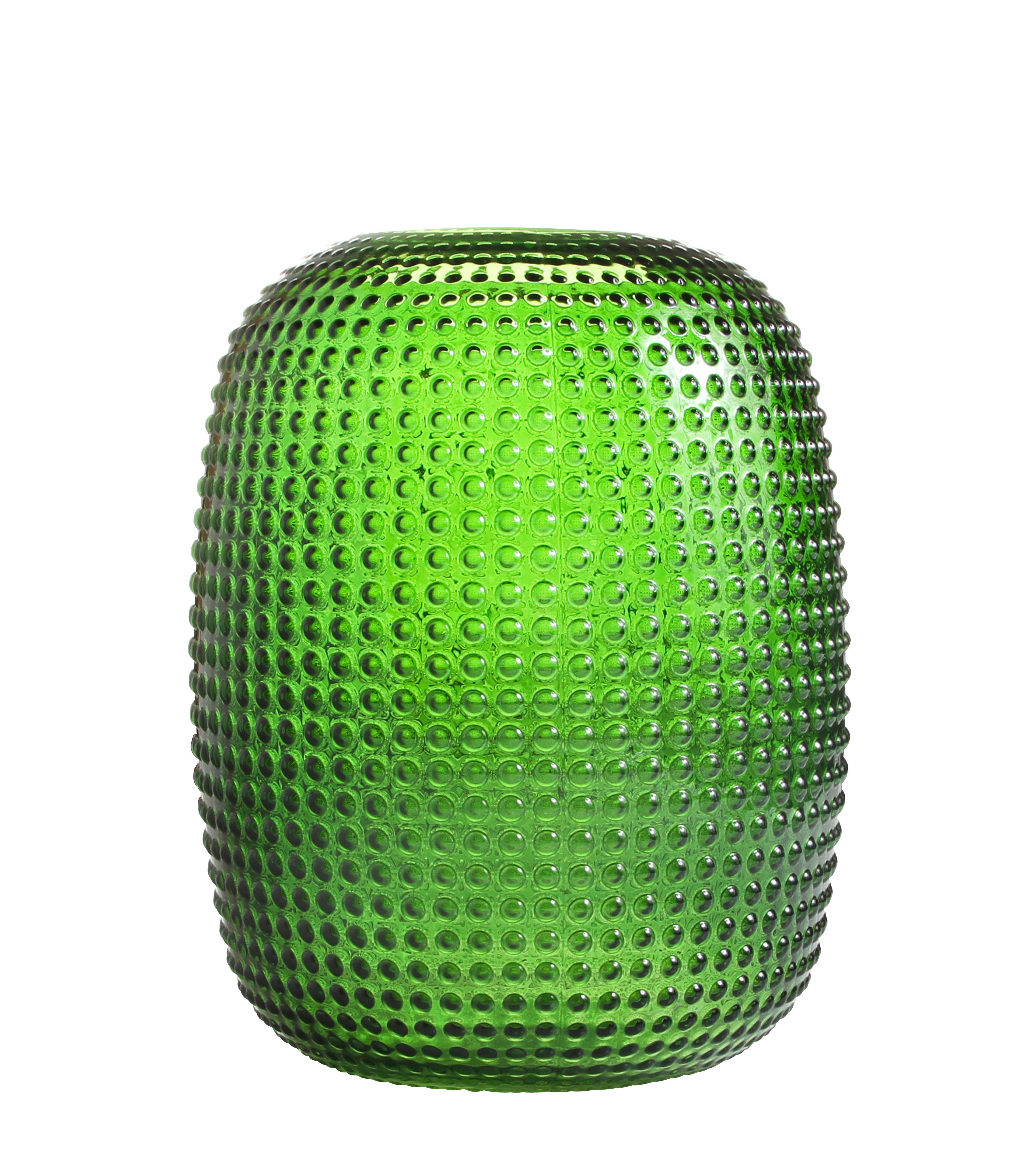 Decoration - Vases - Dotted Small Vase - Glass - H 26,5 cm by & klevering - Green - Glass