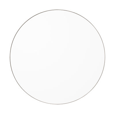 Decoration - Mirrors - Circum Medium Wall mirror - / Ø 90 cm by AYTM - Clear / Taupe - Glass, Painted MDF
