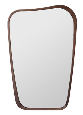 Dekoration - Spiegel - Organique Small Wandspiegel / klein - 50 x 75 cm - Maison Sarah Lavoine - Nussbaum - Nussbaum