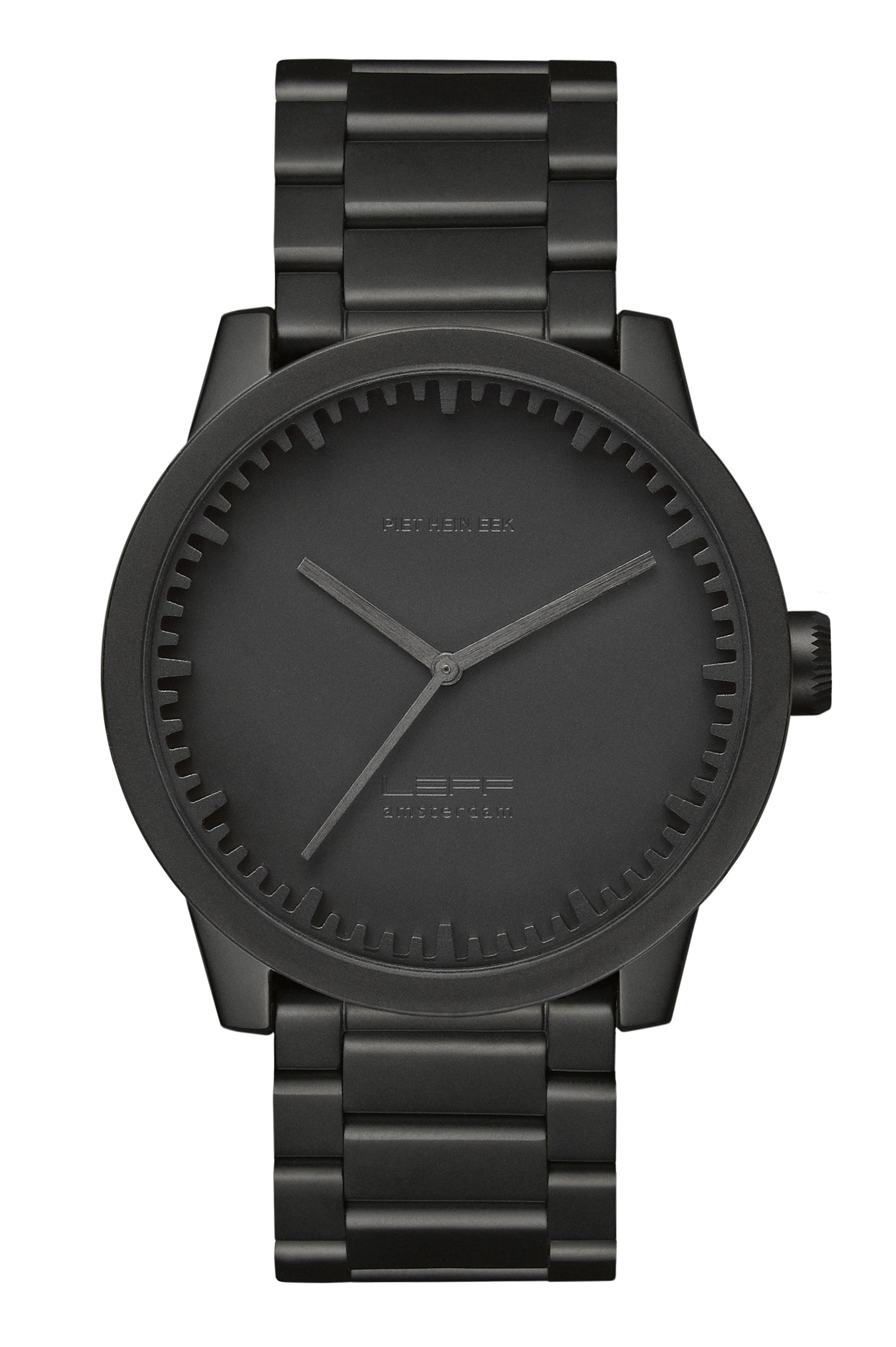 Accessories - Watches - S42 Watch - Steel wristband by LEFF amsterdam - Mate black - 316L stainless steel, Saphir glass
