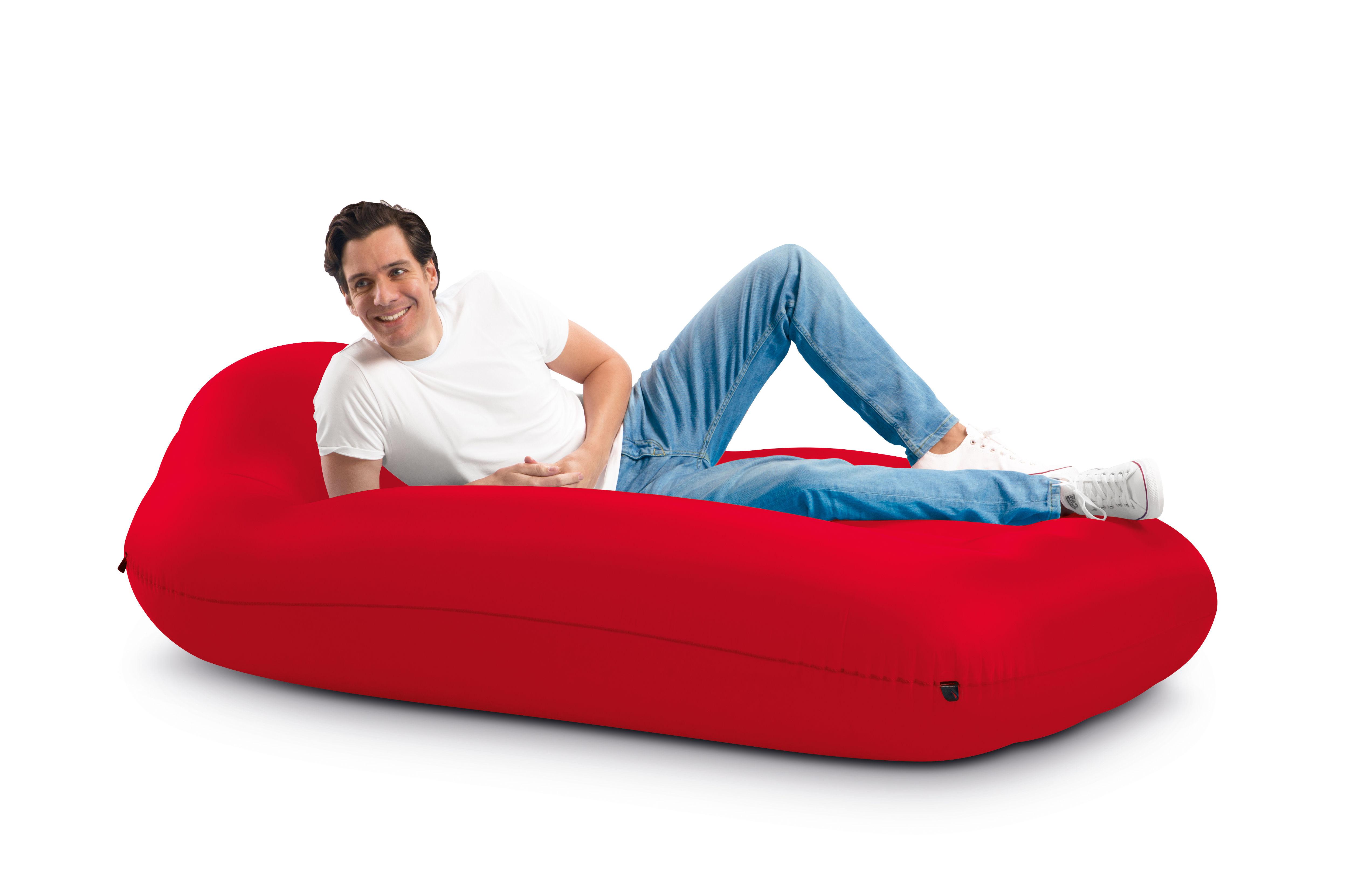 Furniture - Poufs & Floor Cushions - Lamzac L Air mattress - / L 195 x W 112 cm by Fatboy - Red - Nylon