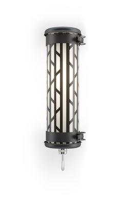 Illuminazione - Lampade da parete - Applique Belleville Mini - / L 36 cm di SAMMODE STUDIO - Noir - Acciaio inossidabile, Alluminio anodizzato, policarbonato