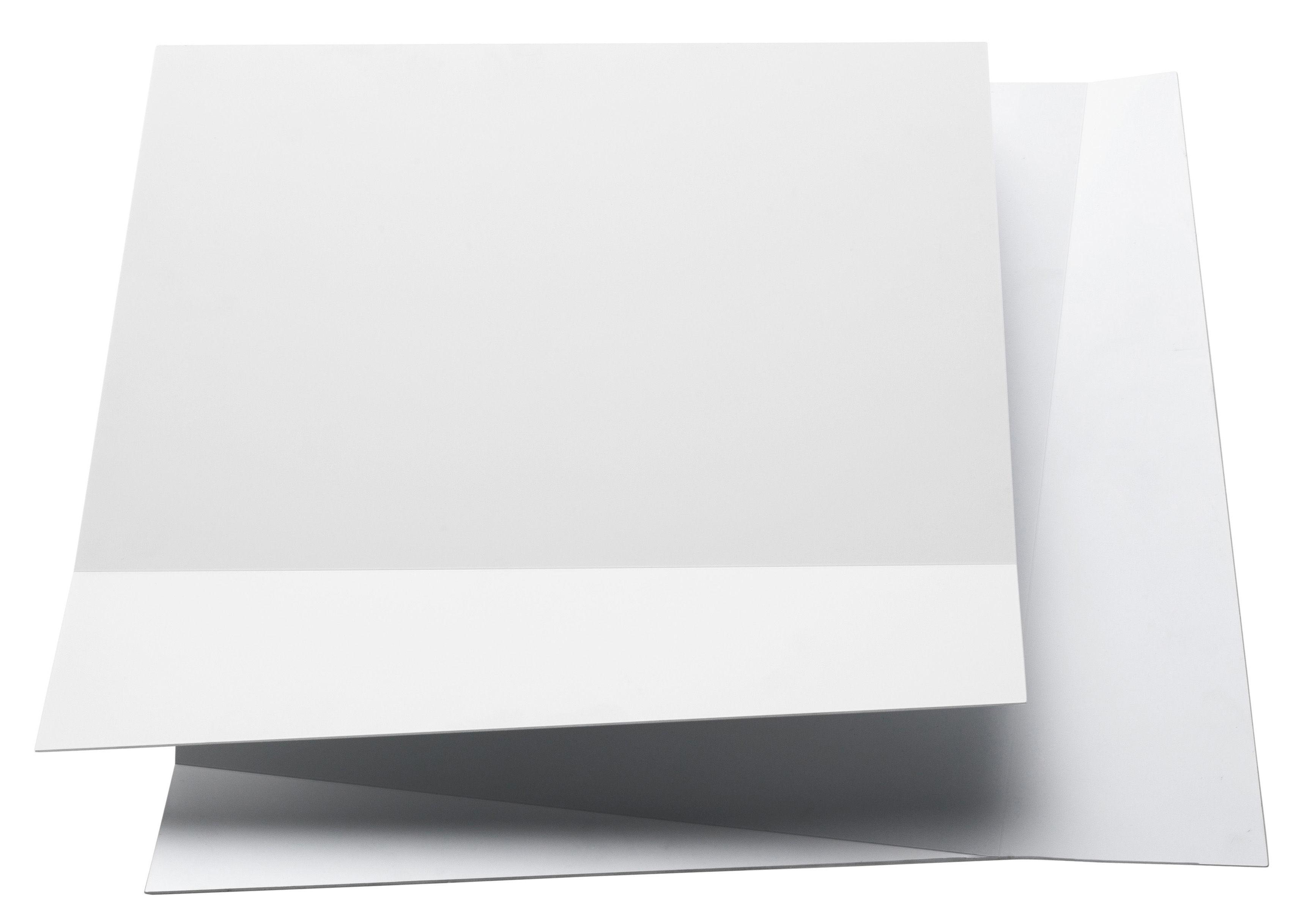 Luminaire - Appliques - Applique Flap 1 - Foscarini - Blanc - Aluminium verni