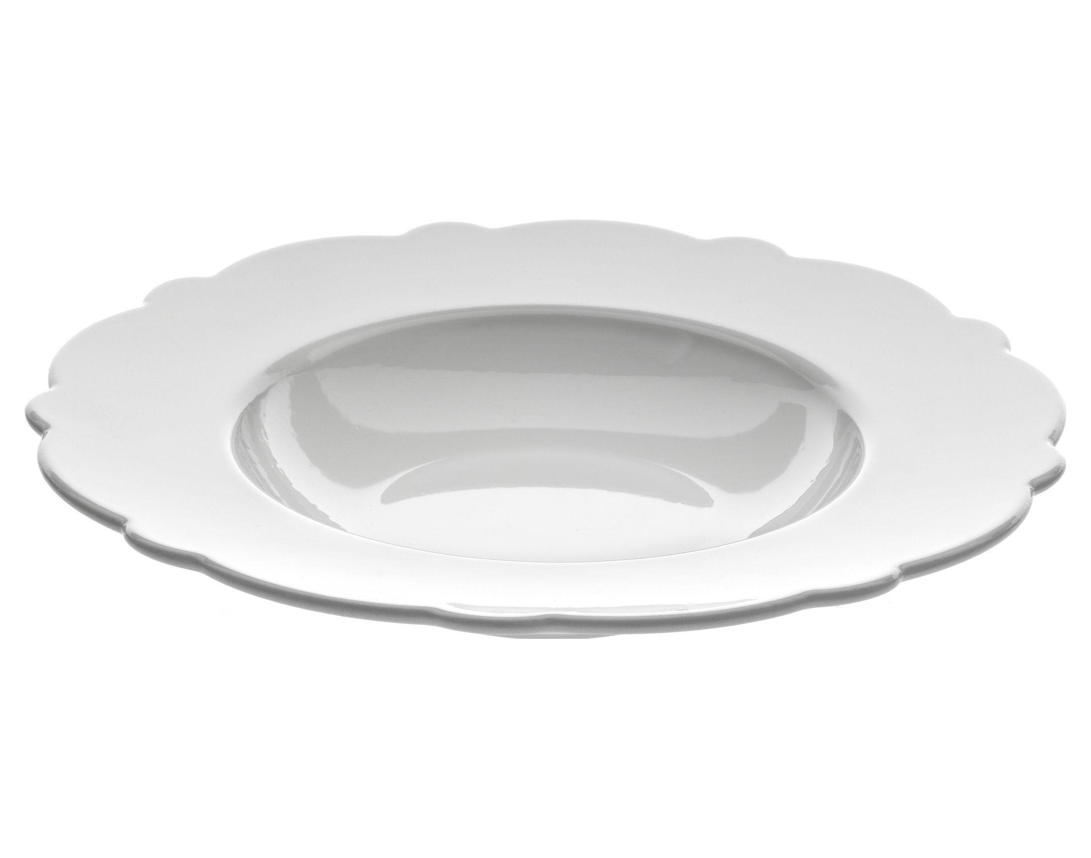Arts de la table - Assiettes - Assiette creuse Dressed Ø 23 cm - Alessi - Assiette creuse Ø 23 cm - Blanc - Porcelaine