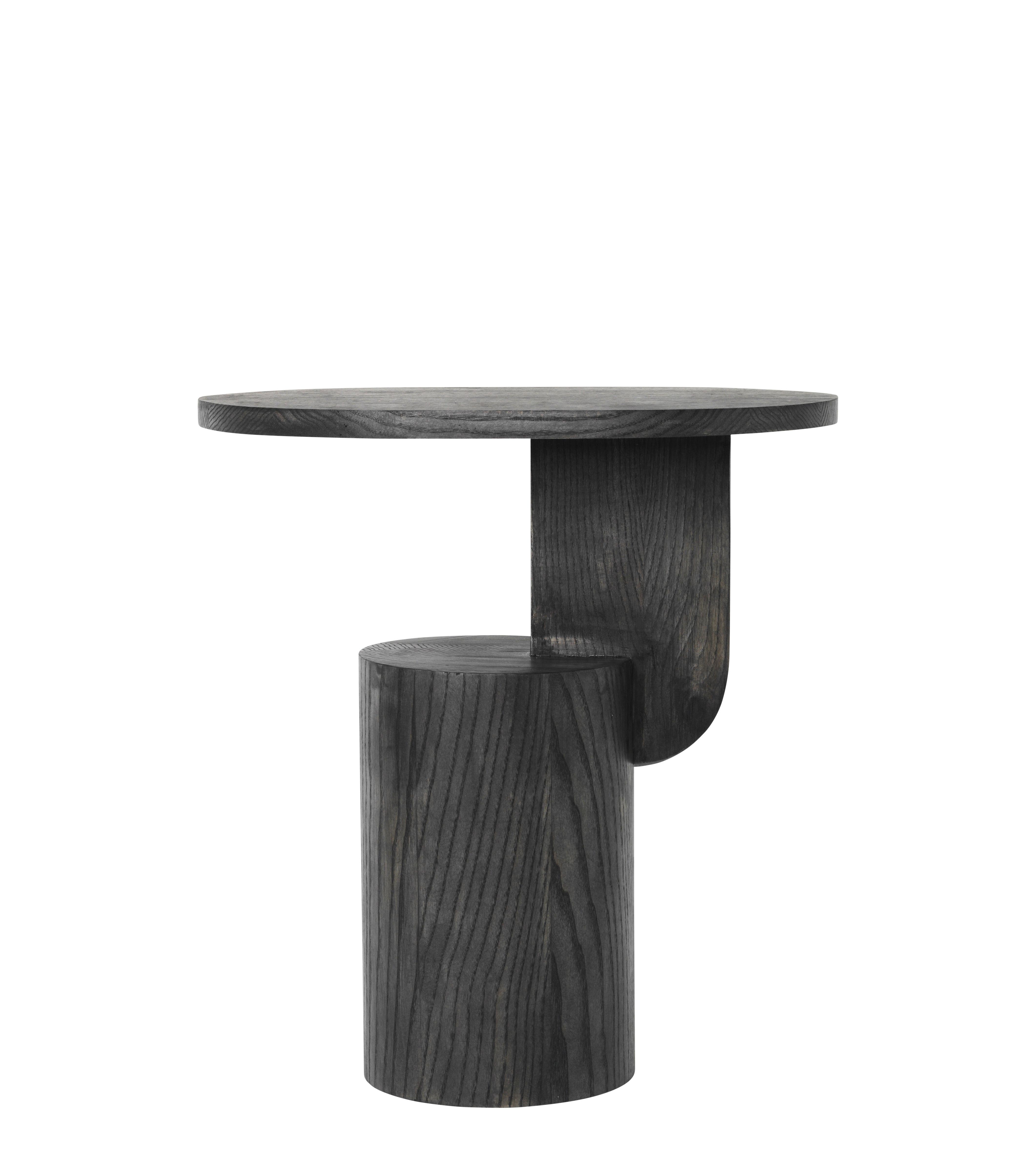 Möbel - Couchtische - Insert Beistelltisch / H 50 cm - Holz - Ferm Living - Schwarz - Frêne massif teinté