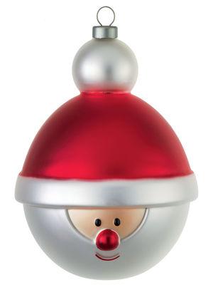 Déco - Objets déco et cadres-photos - Boule de Noël Babbonatale / Père Noël - A di Alessi - Père Noël / Multicolore - Verre soufflé