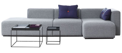 Canapé d'angle Mags / L 304 cm - Accoudoir droit - Hay gris clair en tissu