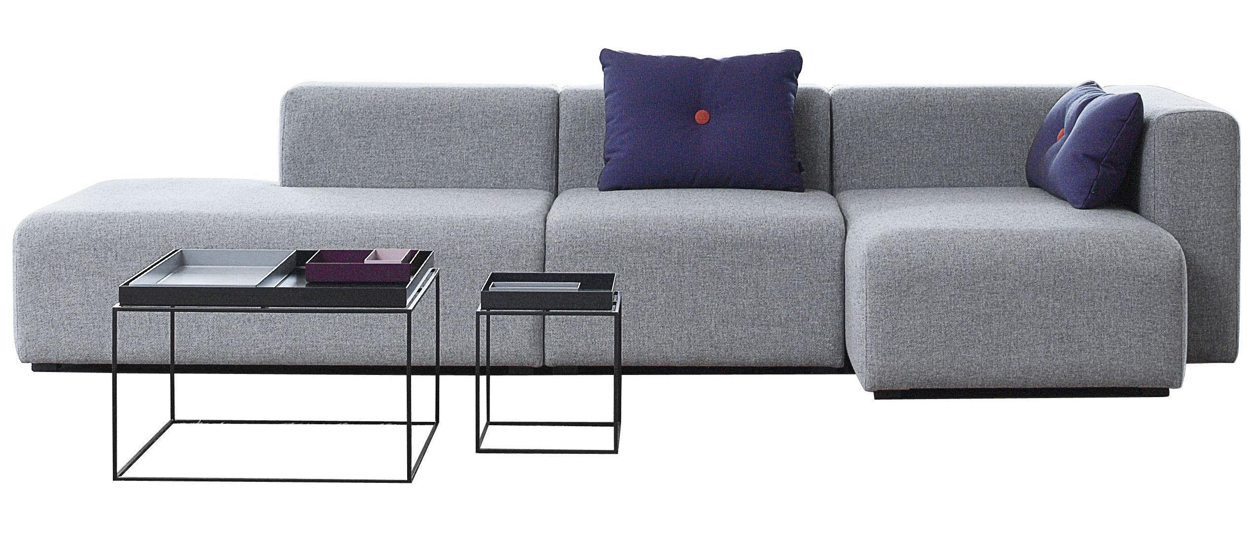 Mobilier - Canapés - Canapé d'angle Mags / L 302 cm - Accoudoir droit - Hay - Gris clair - Accoudoir droit - Tissu